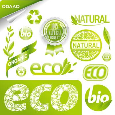 环保绿色矢量图标! - 平面素材分享区
